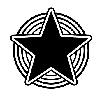 Autocolante - Star circles