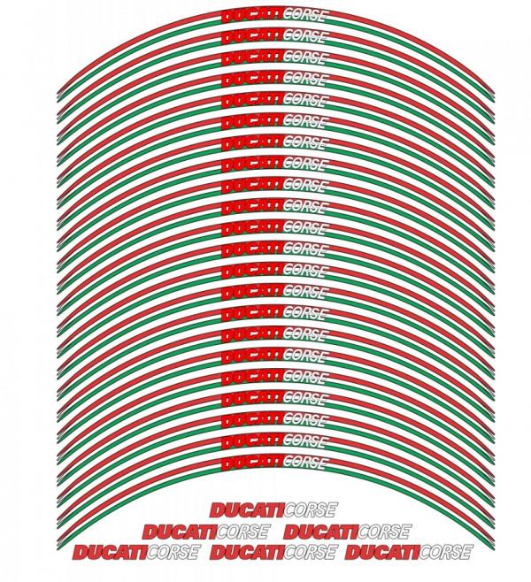 Conjunto de faixas para Jantes com  Ducati