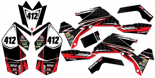 Imagens Kit Autocolantes Para Moto  - Suzuki LTR 450