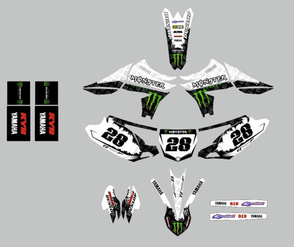 Kit Autocolantes Para Yamaha YZF 10-13