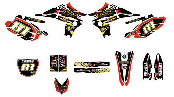 Imagens Kit Autocolantes Para Yamaha yzf 450 10-13