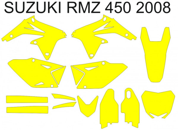Imagens Molde - SUZUKI RMZ 450 2008