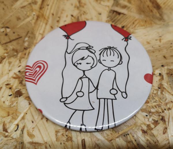 PIN / Íman 77mm - Casal de Namorados