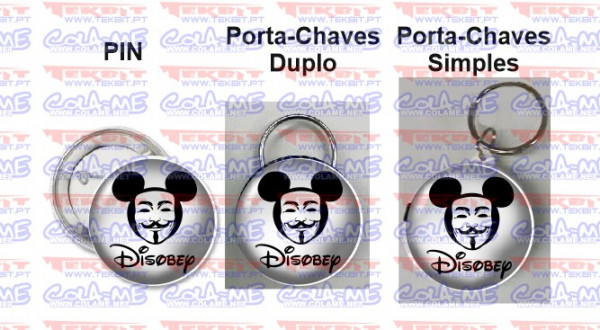 Imagens Pin / Porta Chaves - Disobey