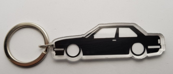 Porta Chaves de Acrílico com silhueta de BMW E30 Coupé