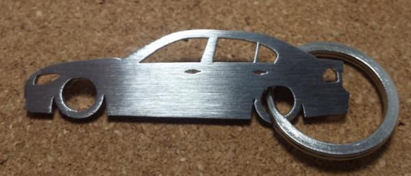 Porta Chaves em inox com silhueta com BMW E90