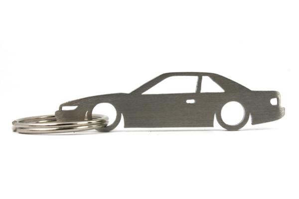 Porta Chaves em inox com silhueta com Nissan Silvia S13 PS13