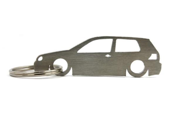 Imagens Porta Chaves em inox com silhueta com Volkswagen Golf MK4 3P
