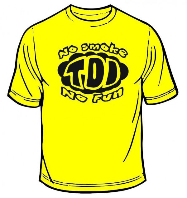 Imagens T-shirt com TDI, no smoke, no fun