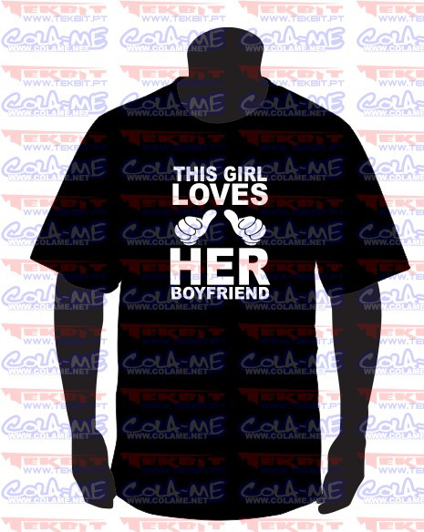 Imagens T-shirt - This Girl Loves Her BoyFriend