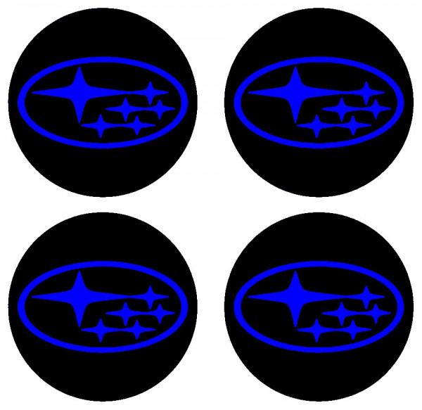 4 Autocolantes Para Centros de Jantes para Subaru