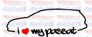 Imagens Autocolante - Autocolante - I Love my Passat