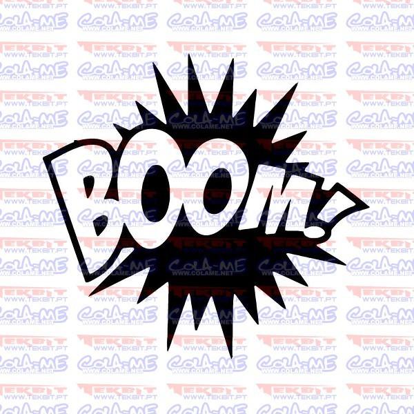 Autocolante - Boom!