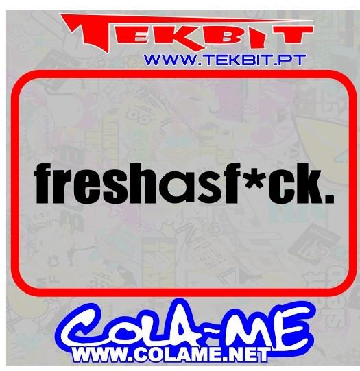 Imagens Autocolante - Fresh as Fuck