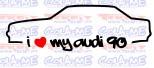 Imagens Autocolante - I Love my Audi 90