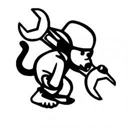 Autocolante - Macaco Mecânico