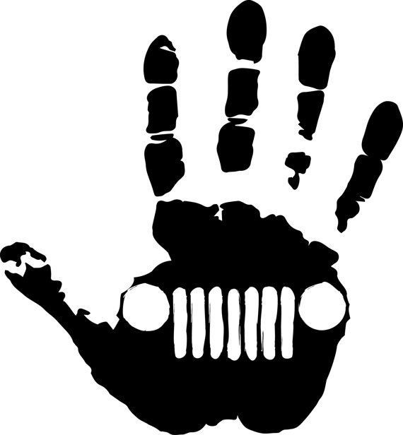 Imagens Autocolante - Mão jeep