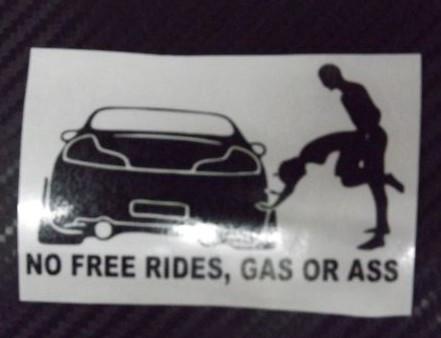 Autocolante - No Free Rides!