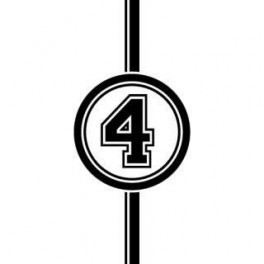 Autocolante - Número 4