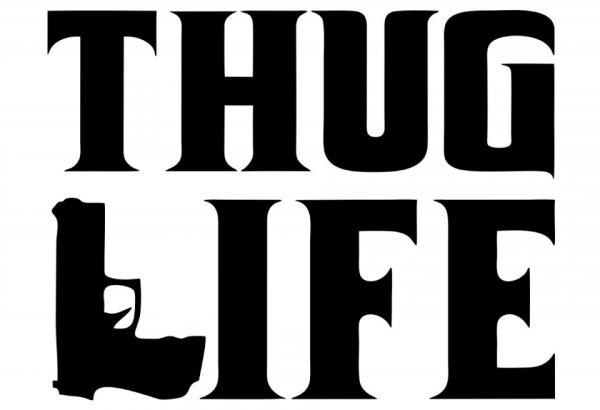 Autocolante - Thug life