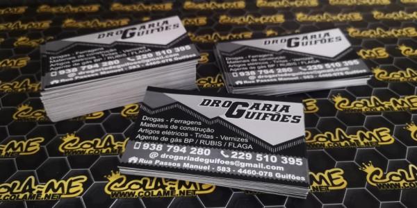 Cartões de visita - Impressão de imagem do cliente