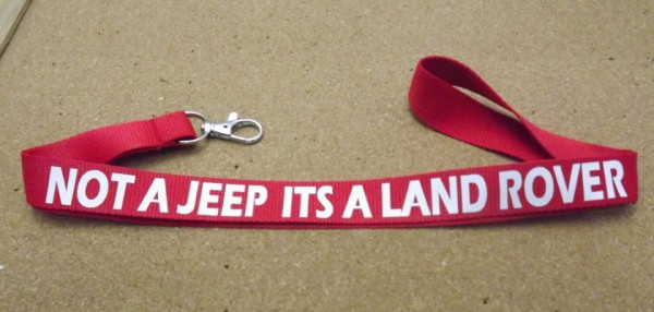 Imagens Fita Porta Chaves para Not a Jeep its a Land Rover