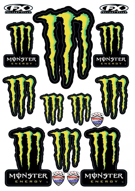 Imagens Folha / Pack de Autocolantes - Monster