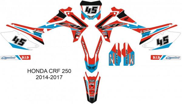 Imagens Kit Autocolantes Para HONDA CRF 250 14-17