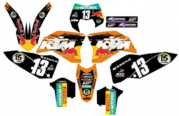 Imagens Kit Autocolantes Para KTM EXC / XC / XCF 08-11