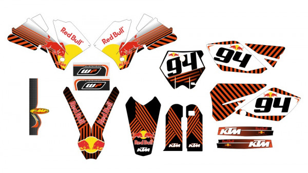 Imagens Kit Autocolantes Para Moto - KTM SX / MX 04-06