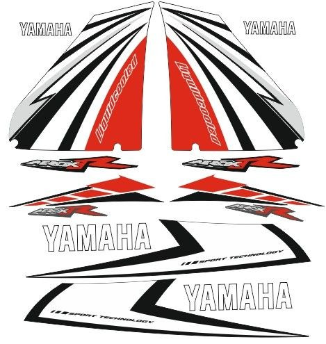 Imagens Kit Autocolantes Para  Yamaha Aerox R - Vermelho