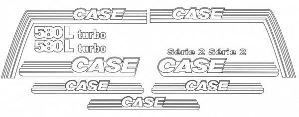 Kit de Autocolantes para CASE 580L Turbo Serie 2