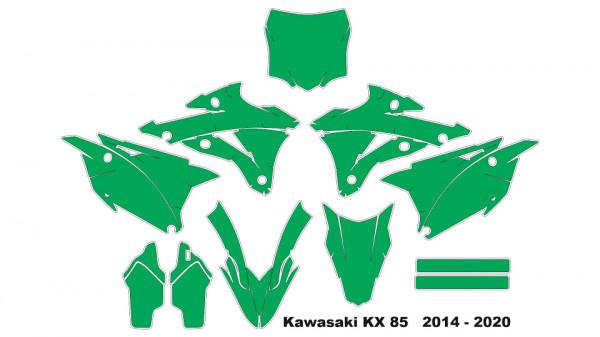 Imagens Molde - Kawasaki KX 85   2014 - 2020