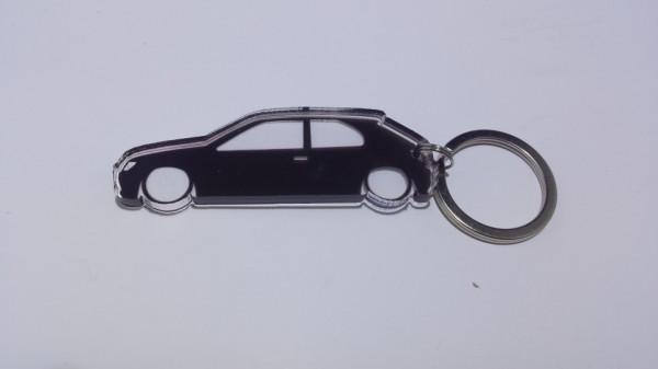 Porta Chaves de Acrílico com silhueta de Peugeot 306
