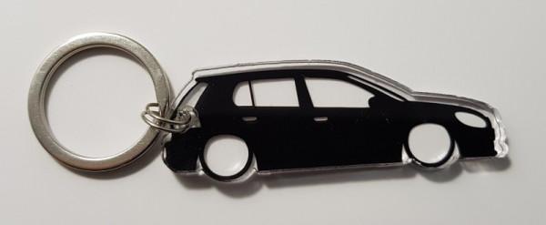 Porta Chaves de Acrílico com silhueta de VW Golf 6