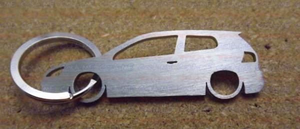 Porta Chaves de inox com silhueta de  Volkswagen Golf V