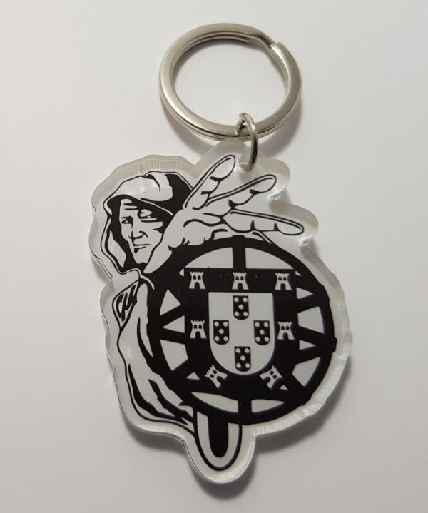 Porta chaves em acrílico - Homem Escudo