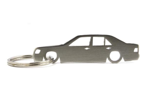 Porta Chaves em inox com silhueta com Mercedes E W124 limousine