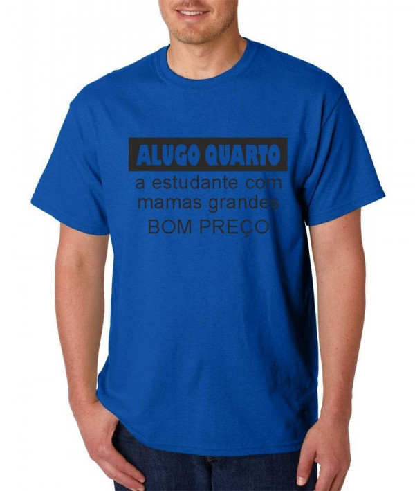 T-shirt  - Alugo Quarto a estudante  com mamas Grandes