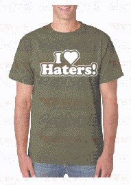 Imagens T-shirt  - I LOVE HATERS