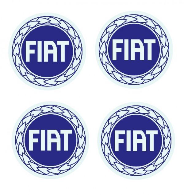 Imagens 4 Autocolantes Para Centros de Jantes com Fiat