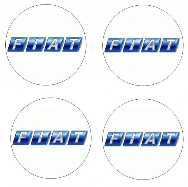 4 Autocolantes Para Centros de Jantes com Fiat