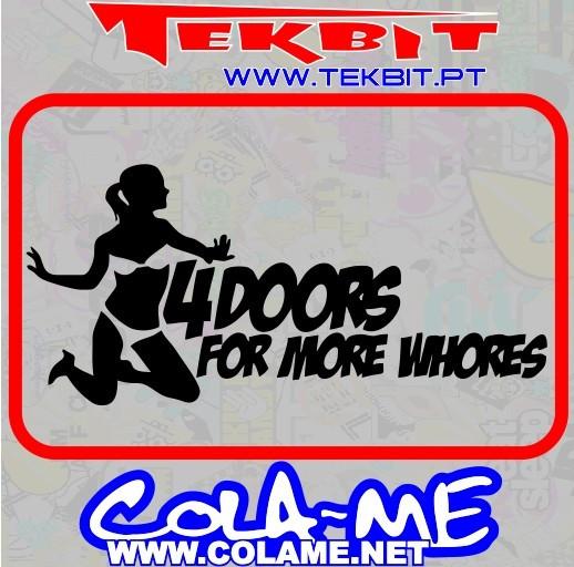 Imagens Autocolante - 4 Doors For More Whores