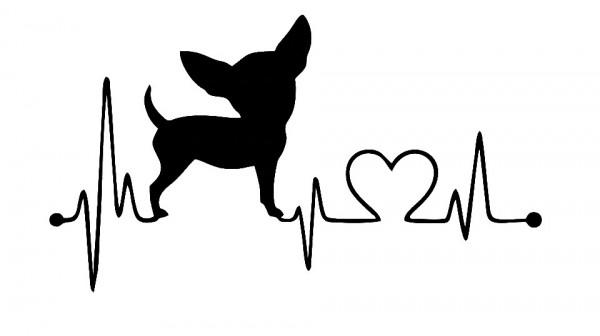 Autocolante - Batimentos Cão