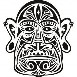 autocolante cara maori