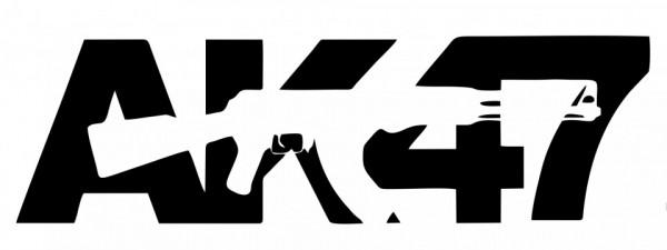 Autocolante com AK 47