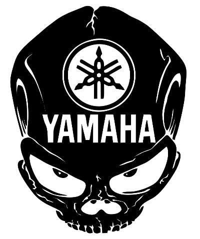 Imagens Autocolante com caveira yamaha
