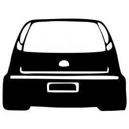 Autocolante com silhueta Opel Corsa C