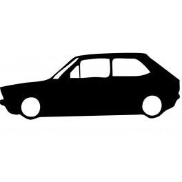 Autocolante com silhueta VW Polo MK1