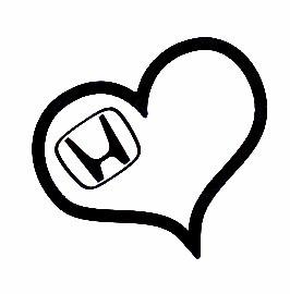 Autocolante - Coração Honda
